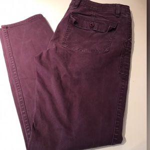 J. Crew Pants - J Crew purple skinny utility chino pants